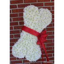Dog Flower Arrangement Dog Bone Tribute Owings Maryland Florist Floral Expressions