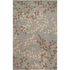 8 X 12 Area Rug Home Decorators Collection Blossoms Blue 9 Ft X 12 Ft Area Rug