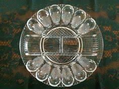 glass deviled egg plate vintage indiana carnival glass deviled egg plate blue iridescent