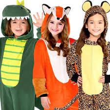 animal jumpsuits kids fancy dress safari zoo book day girls boys