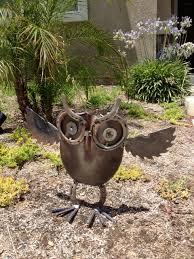 owl yard gardenmetal folk artamerican by americanmetalart