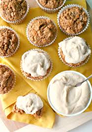 carrot cake muffins with maple orange frosting the glowing fridge