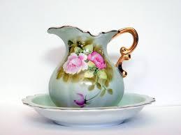lefton china pattern lefton china pitcher bowl set 4579 heritage green ebay lefton