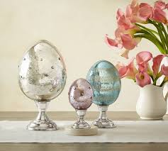 easter egg stands mercury eggs on stands pottery barn