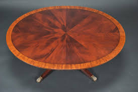 Oval Mahogany Coffee Table Oval Cocktail Table Satinwood Banded Coffee Table