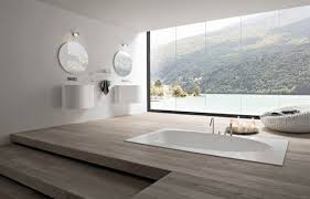 bathroom modern spa bathroom style featuring 2 white cloackroom