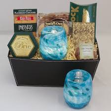 seattle gift baskets celebration gift baskets 43 blown glass votive in turquoise