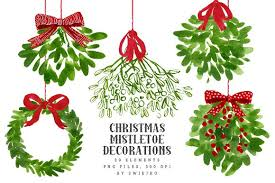 christmas mistletoe mistletoe christmas clip illustrations creative market