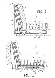 patent us20080066227 folding mechanism for a futon sofa sleeper