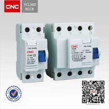 2 4 poles ycl360 residual current circuit breaker rccb single