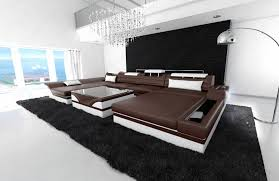 furniture elegant u shaped couch for inspiring living room