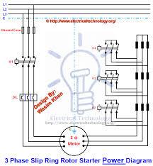 three phase slip ring rotor starter control u0026 power