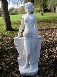 cleopatra marble statue garden ornament sculpture gardensite co uk