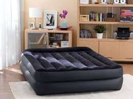 deluxe intex queen size raised inflatable air bed mattress
