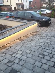 led outdoor strip lighting hidden led strip lights in the coping stones lights the path