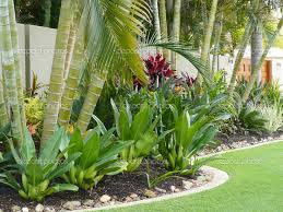 Tropical Patio Design Tropical Patio Plants Red Tropical Garden Border Stock Photo Sue