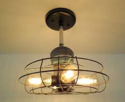 Cage Enclosed Ceiling Fan With Light Home Design Ideas