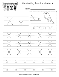 free kindergarten writing worksheets learning to write the alphabet