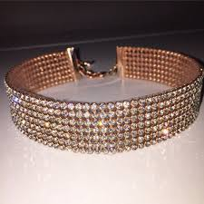 crystal choker necklace set images Best 25 gold choker necklace ideas seksy watch and jpg