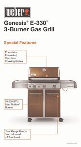 the home depot kyle tx black friday weber genesis e 330 3 burner propane gas grill in copper 6532001