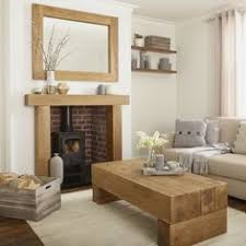 Solid French Oak Beams Floating Shelf Mantle Piece Fire Place - French home furniture