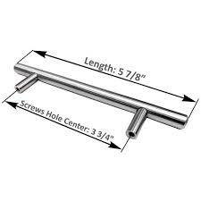 kitchen cabinet door handles home depot 3 3 4 in brushed nickel kitchen cabinet door t bar handles