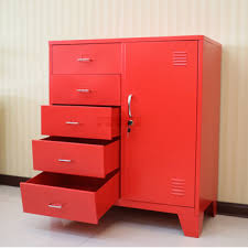 metal storage cabinet with drawers living room furniture corner red metal storage cabinet drawers