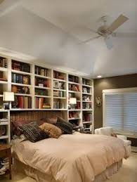 Bed With Bookshelf Headboard Melbripley Via Domino Houses Pinterest Bookcase Headboard