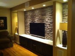 Interior Design Ideas For Tv Wall by 25 Best Stone Tv Wall Images On Pinterest Basement Ideas