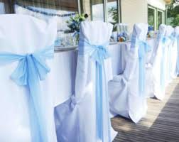blue chair sashes decorative wedding chair sash light blue chair ribbon set of
