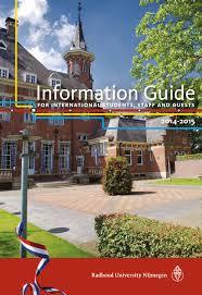 radboud university u0027s information guide for international students