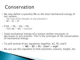 mechanical energy equation 19 conservation