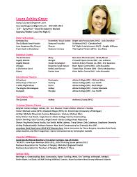 Actor Sample Resume by Childs Resume For Acting