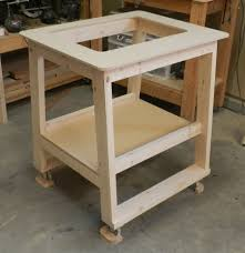 diy table saw stand with wheels assembled framework of router table large dowelmax