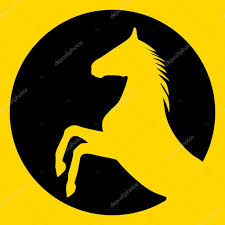 rearing up horse vector silhouette u2014 stock vector aarrows 34459555
