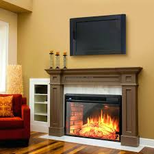 real flame oak wood corner electric fireplace flat panel heater