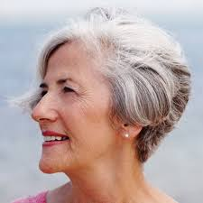 salt and pepper hair styles for women short hairstyles for older women with gray hair