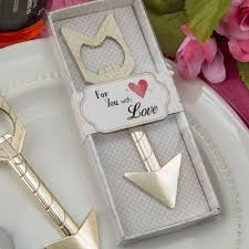 wedding favors bottle opener gold arrow bottle opener wedding favors