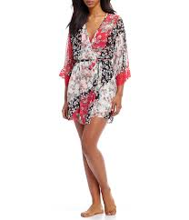 in bloom by jonquil in bloom by jonquil annia floral chiffon lace wrap robe dillards