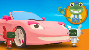 pink toddler car sophie the sports car visits gecko u0027s garage learn colours for