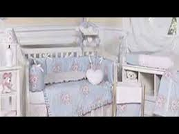 sky blue and pink shabby chic floral baby crib bedding youtube