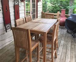 Teak Outdoor Furniture Atlanta by Prime Bar Table Seats 6 Atlanta Teak Furniture