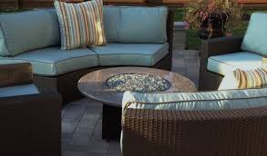 Fire Patio Table by Patio Interesting Fire Pit Patio Sets Charming Brown Round Wood
