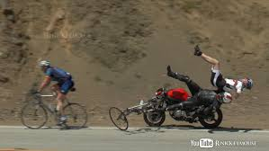 bmw bicycle vintage shocking motorcycle crash into bicycles youtube