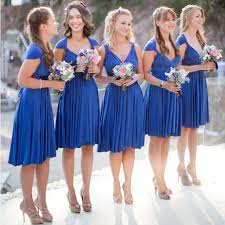 bridesmaid dresses royal blue convertible jersey bridesmaid dresses for summer