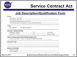 General Contractor Job Description Resume by Contractor Job Description Service Contract Act Job Description