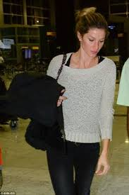 makeup school boston gisele is a vision in stripes departing lax gisele bundchen