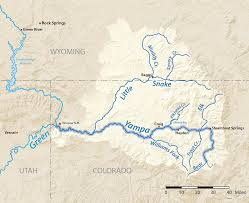 Colorado River On A Map by Yampa River American Rivers
