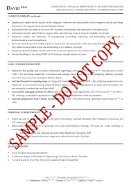 Sample Senior Management Resume Executive Cv Examples The Cv Store