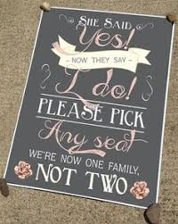 wedding seating signs rustic chalkboard style wedding ceremony or reception sign in any